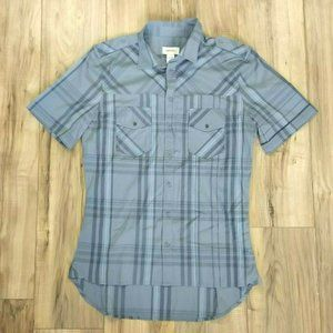 Diesel Button Shirt Mens Size Large Gray